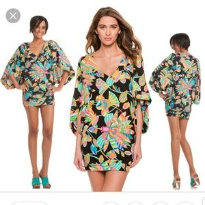 Trina Turk Tahitian Floral Tunic Cover Up XS